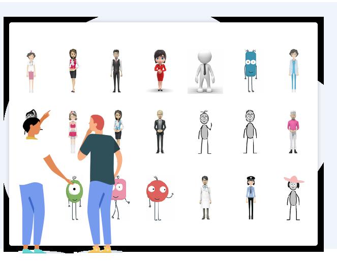 60+动画人物角色 抖音文字动画视频制作软件
